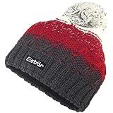 Eisbär Jimmy Pompon, Unisex Winter Cap, anthracite/red/white, One Size Women