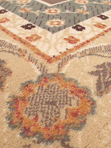 eCarpetGallery Royale 5-Feet 3-Inch by 7-Feet 7-Inch Wool Rug, Brown