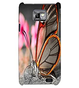 ColourCraft Beautiful Butterfly Design Back Case Cover for SAMSUNG GALAXY S2 I9100