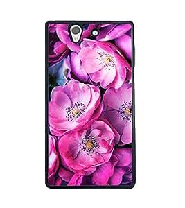 Fuson 2D Printed Flower Designer back case cover for Sony Xperia Z - D4499