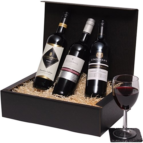 Wine Hamper – Australian 3 Bottle Red Wine Selection – Trio Of Red Wine Gift