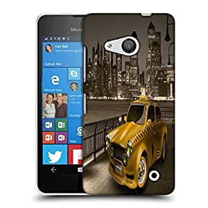 Snoogg new york city cab 2671 Designer Protective Back Case Cover For Nokia Lumia 550