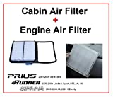 Prius Engine Air Filter and Cabin Air Filter KIT - Prius 2004 2005 2006 2007 2008 2009 All Models - One Engine Filter & One Cabin Air Filter