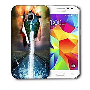 Snoogg Nature Water Pouring Printed Protective Phone Back Case Cover For Samsung Galaxy Core Plus G3500