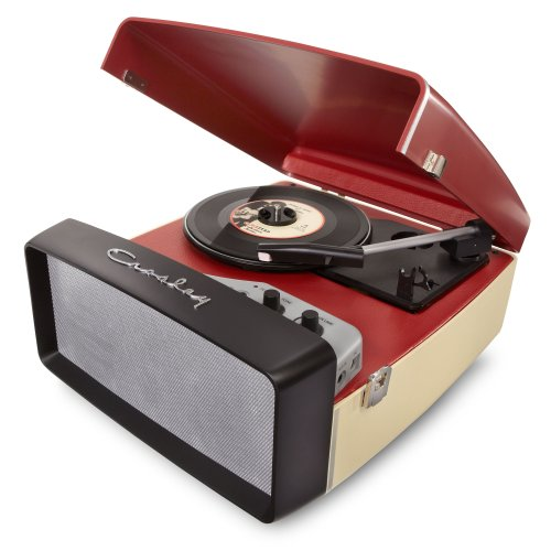 Crosley Cr6010A-Re Collegiate Usb-Enabled 3-Speed Turntable With Software Suite For Ripping And Editing Audio (Red & Cream)