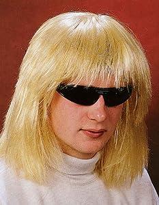 Herren Perücke Hippie zum Kostüm an Karneval Fasching blond