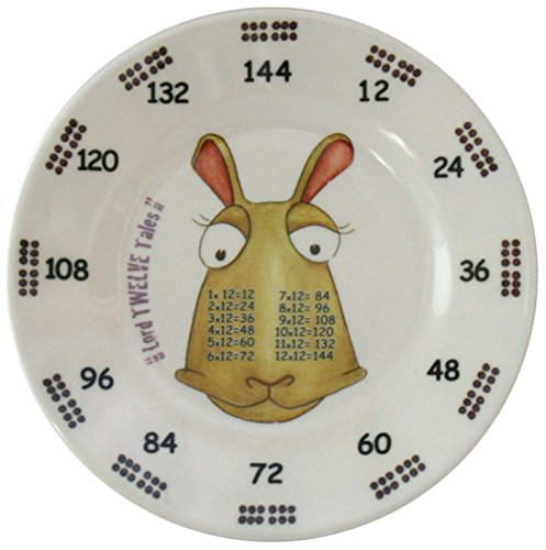 The Multiples Times Table Dinnerware Lord Twelve Tales 6.5 inch Melamine Plate