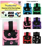 Five Star Pet Products Paw Print Bag Dispenser Red