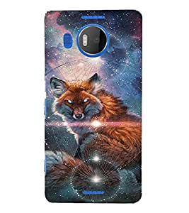 EPICCASE Abstract Wolf Mobile Back Case Cover For Microsoft Lumia 950 XL (Designer Case)