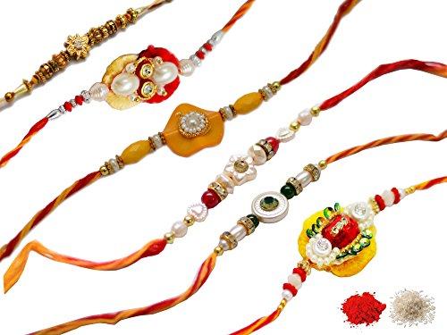 ascension S4 Rakhi Raksha Bandhan Gift Band Moli Bracelet WRISTBANDS Roli Chawal Tilak