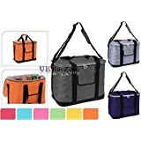 Large 30L Insulated Cool Tote Bag Cooler Shoulder Strap Picnic Drinks Carrier Assorted Colours