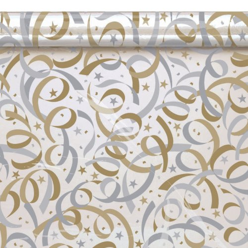 Gold / Silver Streamer Cello Tissue Paper (12 sheets)