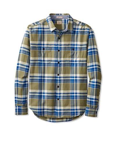 Lucky Brand Men's Gunnar Plaid 2 Pocket Shirt