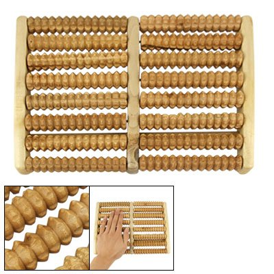 Rosallini Foot Wooden Roller Relax Stress Relief Massager Board