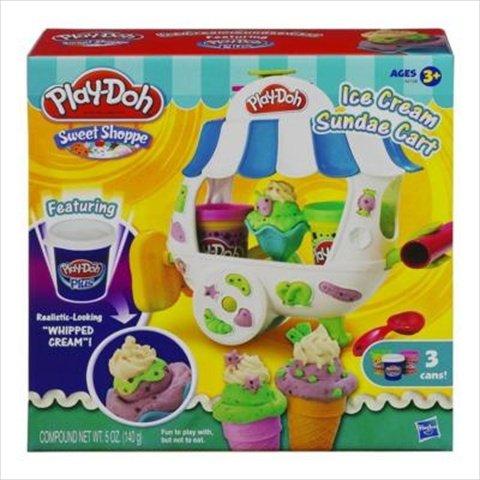 Play-Doh Ice Cream Sundae Cart Playset