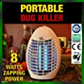 Electronic Insect Killer - 8 WATTS - 2x Powerful UV Bulbs - Get Rid of Flies, Bugs and Mosquitoes