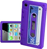 IPHONE 3G 3GS PURPLE CASSETTE RETRO TAPE GEL COVER SILICONE CASE SKIN iTAPE From Gadget Zoo