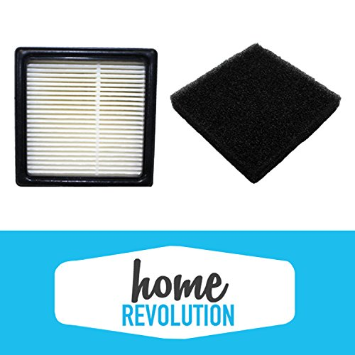 Dirt Devil F43 Home Revolution Brand Replacement Filter and Foam; Made To Fit Dirt Devil EasyLite Cyclonic Vacuum Cleaner models; Compare to Dirt Devil Part # 2PY1105000 and 1PY1106000 (1) (Dirt Devil Air Filter compare prices)