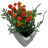 DCS Decorative Artificial Flower Ceramic Vase