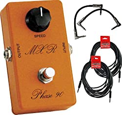 "MXR CSP-026 Handwired 1974 Vintage Phase 90 Pedal w/(2) 6"" patch cables (2) 18.6' cables"