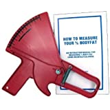 Slim Guide Skinfold Caliper (Red) with Book Model C-120R