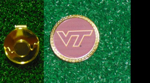 Gatormade Golf Ball Marker & Hat Clip Virginia Tech Hokies by Gatormade Golf
