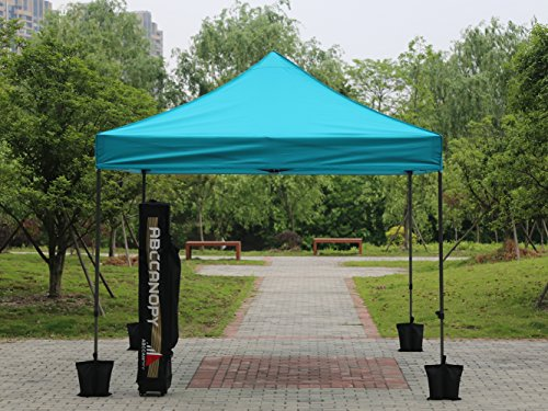 AbcCanopy Commercial 10x10 Instant Canopy Craft Display Tent Portable Booth Market Stall with Wheeled Carry Bag u0026 Full Walls  Bonus 4x Weight Bag u0026 10ft ... : coleman instant canopy screenwall accessory - memphite.com