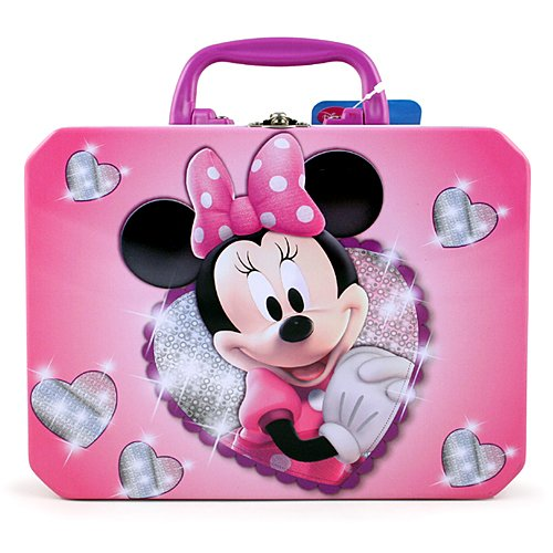Disney Junior Minnie Mouse Bow-tique Rectangle Tin Box With Plastic Handle - 1