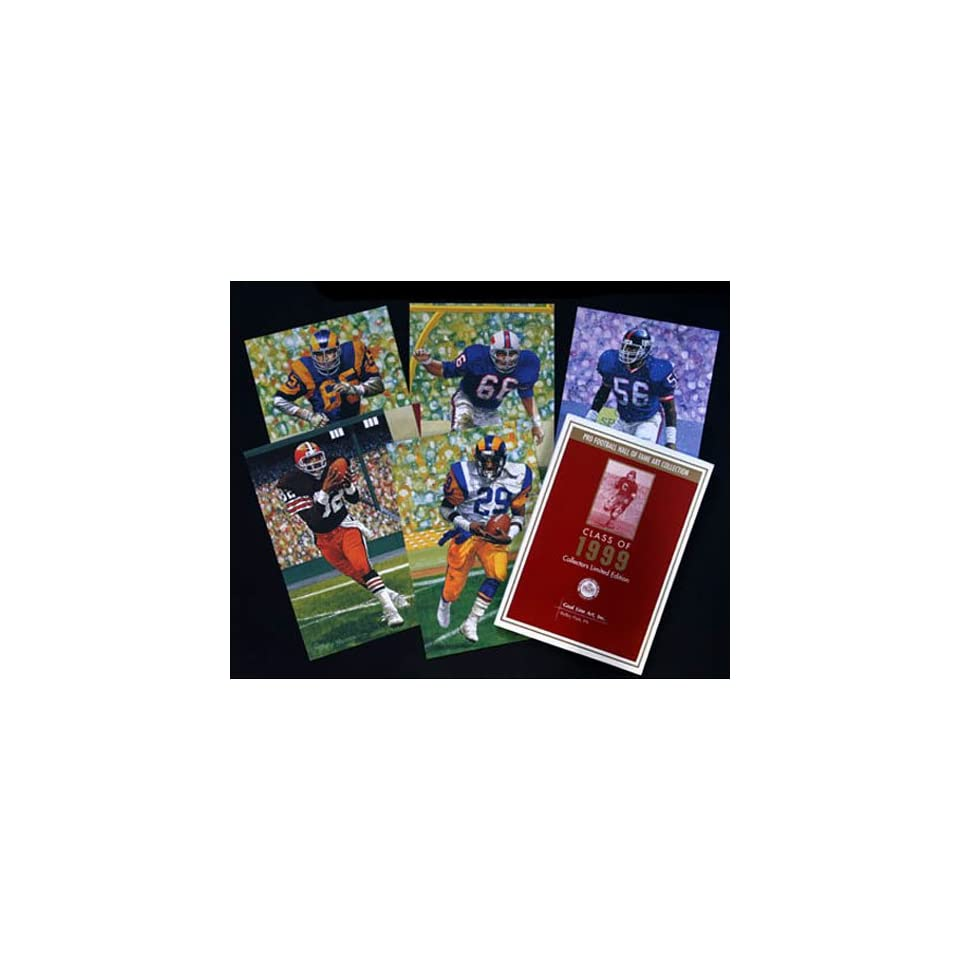 NFL Pro Football Hall of Fame Goal Line Art Cards Class of 1999