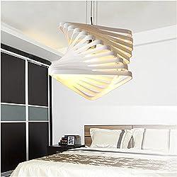 BAYTTER® Design Hängeleuchte Pendelleuchte Deckenlampe E27 für Esszimmer Schlafzimmer in weiß, Durchmesser von 20 cm