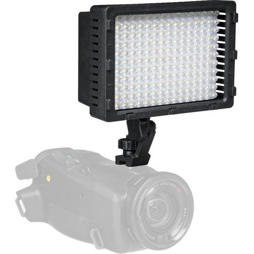 Polaroid 176 High Powered Variable Dimmable Led Light Includes Deluxe Padded Carrying Case