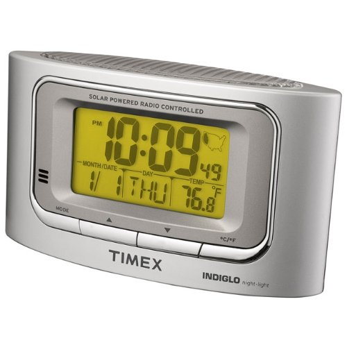Timex T065S Solar Powered Radio Controlled Atomic Alarm Clock