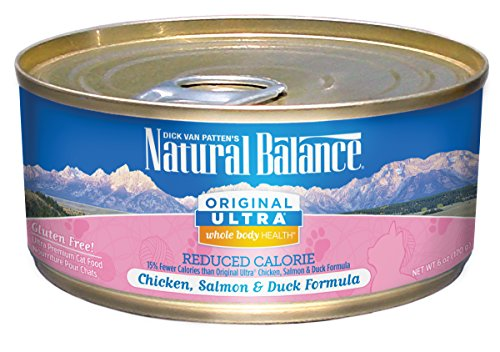 Natural Balance Original Ultra Whole Body Health Reduced Calorie Chicken, Salmon & Duck Canned Cat Formula