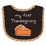 Luvable Friends Thanksgiving Drooler Bib, First