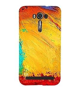 Colourful Pattern 3D Hard Polycarbonate Designer Back Case Cover for Asus Zenfone 2 Laser ZE500KL (5 INCHES)