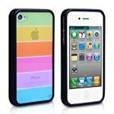 "Apple iPhone 4 Tasche Silikon Regenbogen H�llevon ""Yousave Accessories�"""