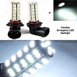 Classy Autos 9006 LED Bulbs 68-SMD SUPER WHITE Super Bright DRL Fog Lights (A Pair)