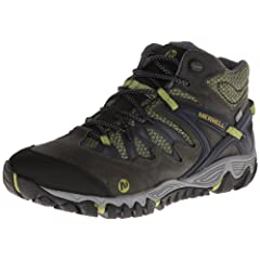Buy Merrell Mens Allout Blaze Mid Waterproof Hiking Shoe by Merrell
