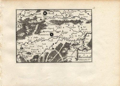 theprintscollector-antico-map-marienbourg-chimay-belgium-beaulieu-1667