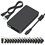 [5V USB] Outtag 90W 15V-20V Universal Laptop Charger Ultra-Slim Power AC Adapter w/Multi Tips Removable DC CORD for HP Dell Acer Asus Toshiba IBM Lenovo Samsung Sony Chromebook Notebook Ultrabook