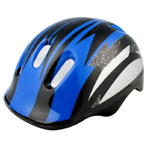 Como Blue Black Strip Adult Bicycle Bike Cycling Skating Striped Helmet for Unisex
