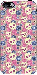 Snoogg Skull Flower Pattern Designer Protective Back Case Cover Forapple Ipho...