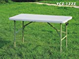New 4ft Plastic Folding Table 4 Banquet Camping Utility