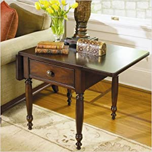 Better Homes & Gardens American Inspirations Drop Leaf End Table in Mahogany 858802-C