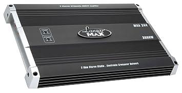 Lanzar MXA244 Amplificateur MOSFET à 2 canaux Pontable 3000 W Noir