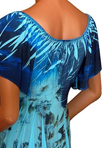 50d6877ea742 Funfash Plus Size Top Blue Floral Slimming Empire Waist Womens Plus Size  Shirt