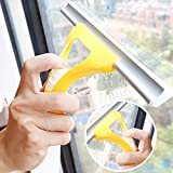 Okayji Spray type Cleaning Brush Glass Wiper Window Clean Shave Car Window Cleaner Brush, Random Colour