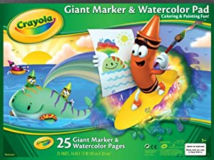 Crayola Giant Marker and Watercolor Pad