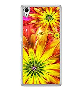 ifasho Flower Design multi color Back Case Cover for Sony Xperia M4 Aqua