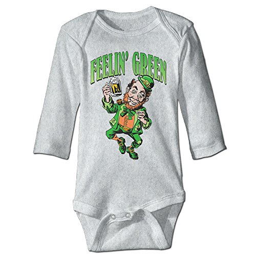 Feelin' Green Leprechaun Baby Onesies Baby Costume For Baby Girls (Lawn Gnome Costume)